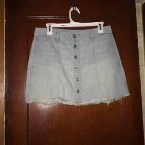 Light-washed denim skirt